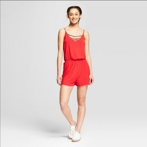 NWOT Mossimo Sz M Red Romper